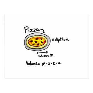 Pizza solucionada tarjeta postal