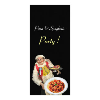 PIZZA & SPAGHETTI PARTY ITALIAN KITCHEN,RESTAURANT RACK CARD
