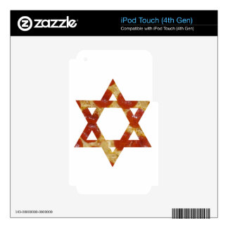 pizza star of david skin for iPod touch 4G