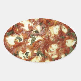 Pizza! Oval Sticker