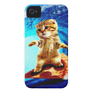 Pizza Surfing Cat Case-Mate iPhone 4 Case