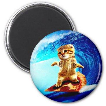 jurassic_world Pizza Surfing Cat Magnet