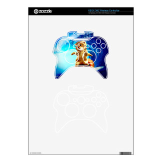 Pizza Surfing Cat Xbox 360 Controller Skin