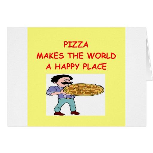 pizza tarjetas