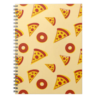 Pizza-themed booklet spiral notebook
