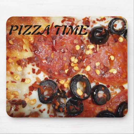 PIZZA TIME MOUSE PAD
