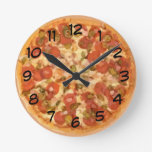 Pizza Time Round Wall Clocks