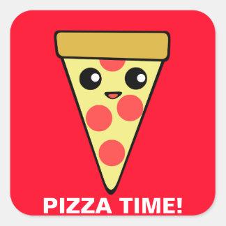 Pizza Time Square Sticker