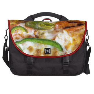 Pizza Topping Close Up Bags For Laptop