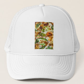 Pizza Topping Close Up Trucker Hat