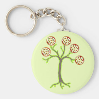 pizza tree keychain