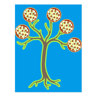 pizza tree postcard