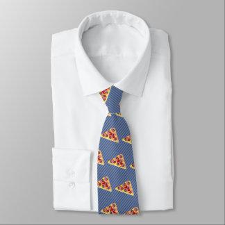 Pizza Triangle - Custom Background Color - Striped Neck Tie