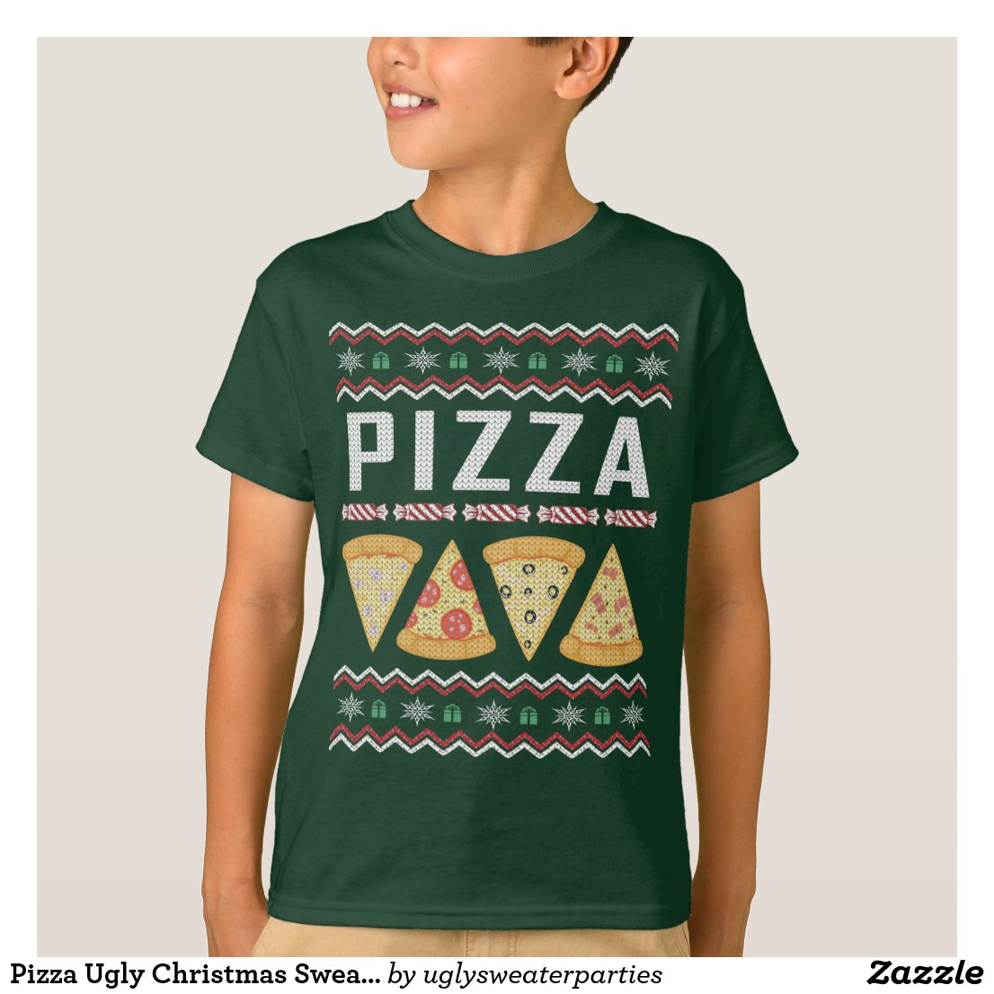 Fun Pizza Ugly Christmas Sweaters