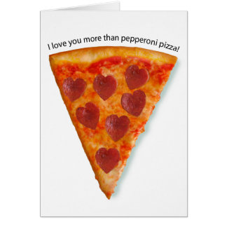 Pizza Valentine Note Card Pizza Valentine   Pizza Valentine