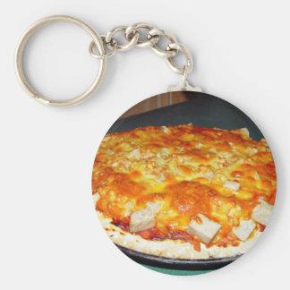 pizza vegetariana con las habas, pedazos del nutol llavero personalizado