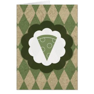 pizza vintage card