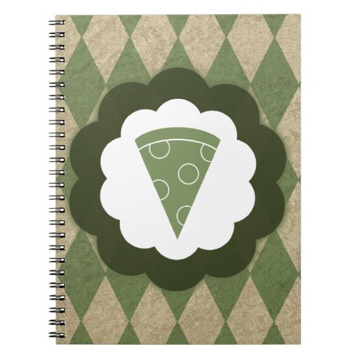 pizza vintage notebook