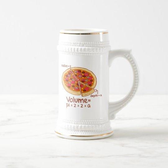 Pizza Volume Mathematical Formula = Pi*z*z*a Beer Stein
