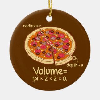 Pizza Volume Mathematical Formula = Pi*z*z*a Ceramic Ornament