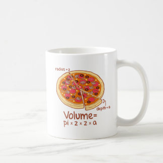 Pizza Volume Mathematical Formula = Pi*z*z*a Classic White Coffee Mug