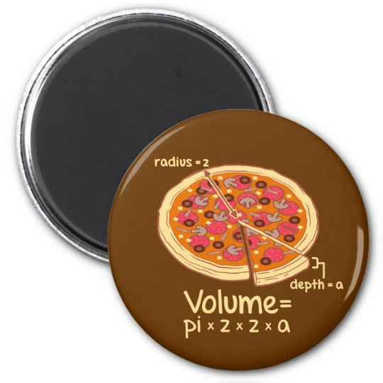 Pizza Volume Mathematical Formula = Pi*z*z*a Magnet