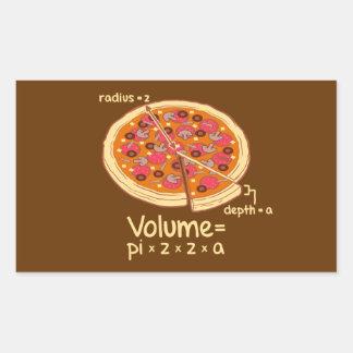 Pizza Volume Mathematical Formula = Pi*z*z*a Rectangular Sticker