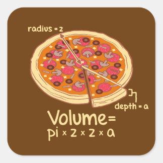 Pizza Volume Mathematical Formula = Pi*z*z*a Square Sticker