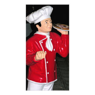 Pizza Waiter Photo Greeting Card