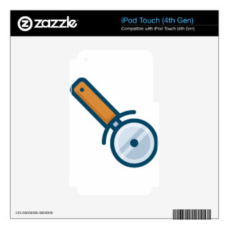 Pizza Wheel Cutter iPod Touch 4G Decal