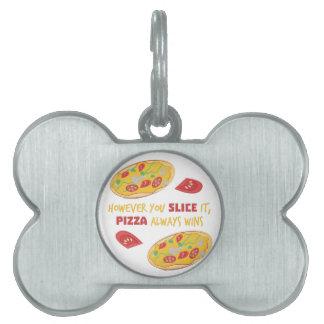 Pizza Wins Pet ID Tag