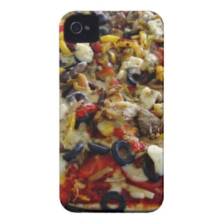 Pizza with feta olives capsicum blackberry case