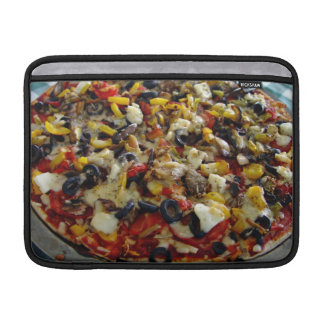 Pizza with feta olives capsicum MacBook sleeve