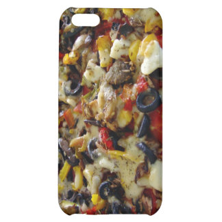 Pizza with feta olives capsicum iPhone 5C covers