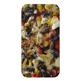 Pizza with feta olives capsicum iPhone 4/4S cases