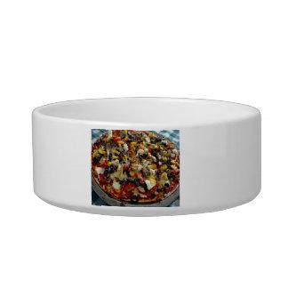 Pizza, with feta, olives, capsicum pet bowls