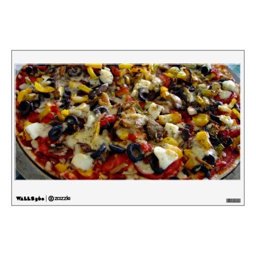 Pizza, with feta, olives, capsicum room decals