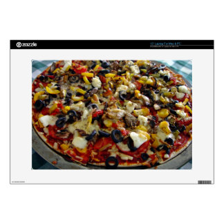 "Pizza with feta olives capsicum 15"" laptop decal"