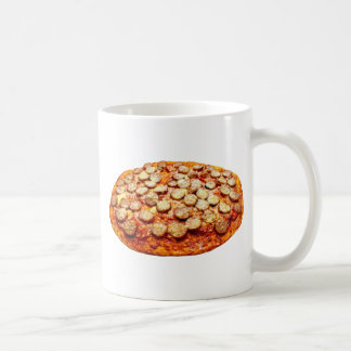 Pizza With Pepperoni and Sausage Classic White Coffee Mug