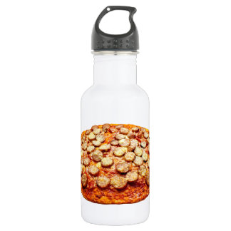 Pizza With Pepperoni and Sausage 18oz Water Bottle