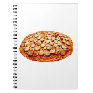 Pizza With Pepperoni and Sausage Spiral Notebook