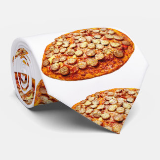 Pizza With Pepperoni and Sausage Tie
