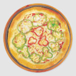 Pizza with Peppers Sticker