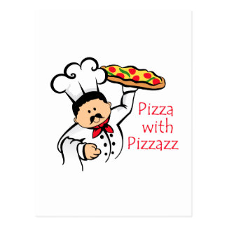PIZZA WITH PIZZAZZ POSTCARD