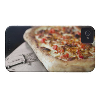 Pizza with tomatoes, garlic and meat substitute iPhone 4 cases