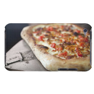Pizza with tomatoes, garlic and meat substitute barely there iPod cover