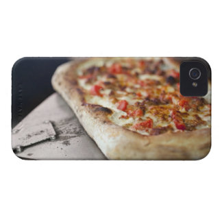Pizza with tomatoes, garlic and meat substitute iPhone 4 case