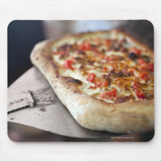 Pizza with tomatoes, garlic and meat substitute mousepads