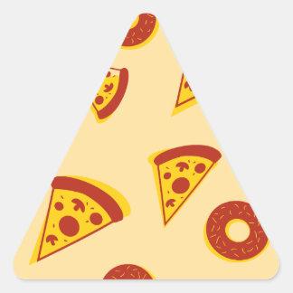 Pizza y anillos de espuma pegatina triangular