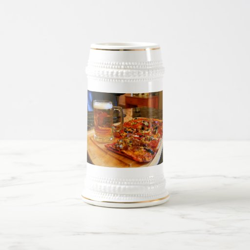 Pizza y cerveza Stein Jarra De Cerveza